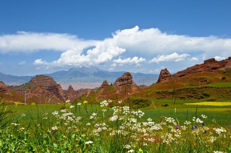五颜六色的山横向 库存图片