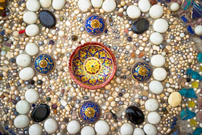 五颜六色的岩石五颜六色的背景  免版税库存图片