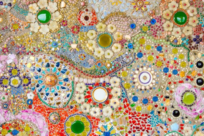 五颜六色的岩石五颜六色的背景  免版税库存照片