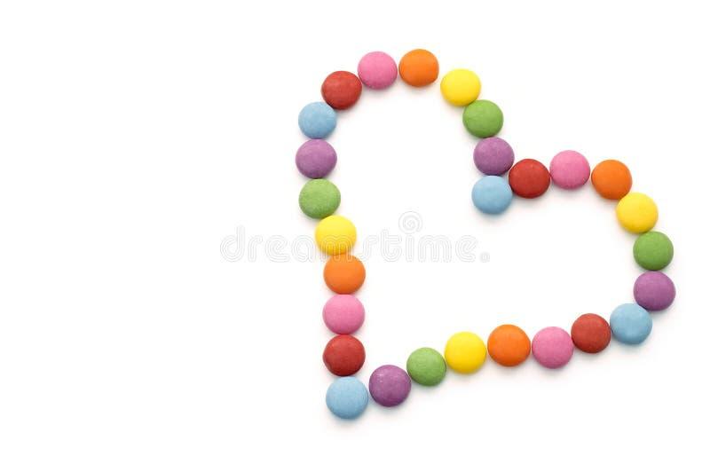 五颜六色的巧克力糖 免版税图库摄影