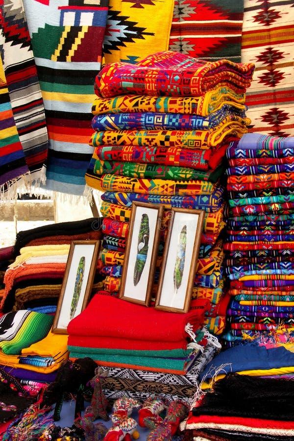 五颜六色的市场墨西哥 库存照片