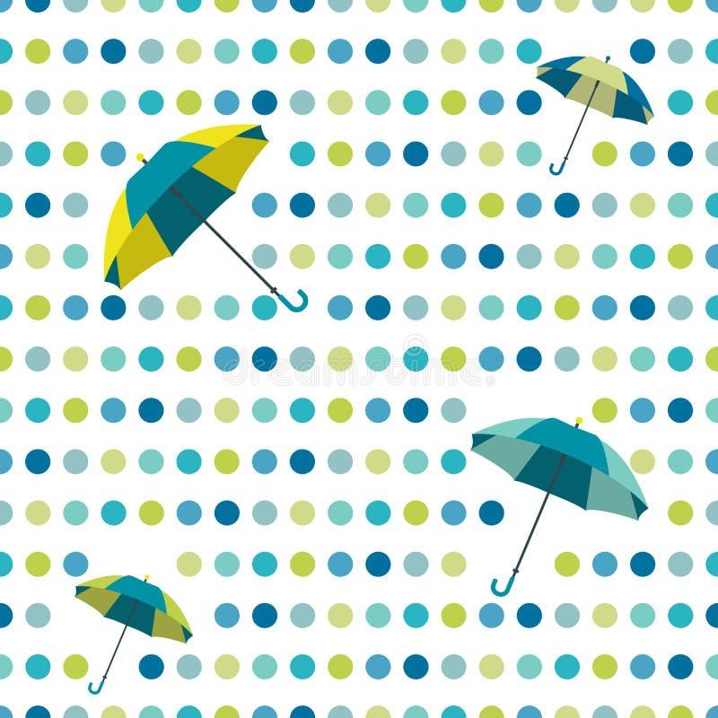 五颜六色的平的重复墙纸圆点设计 皇族释放例证