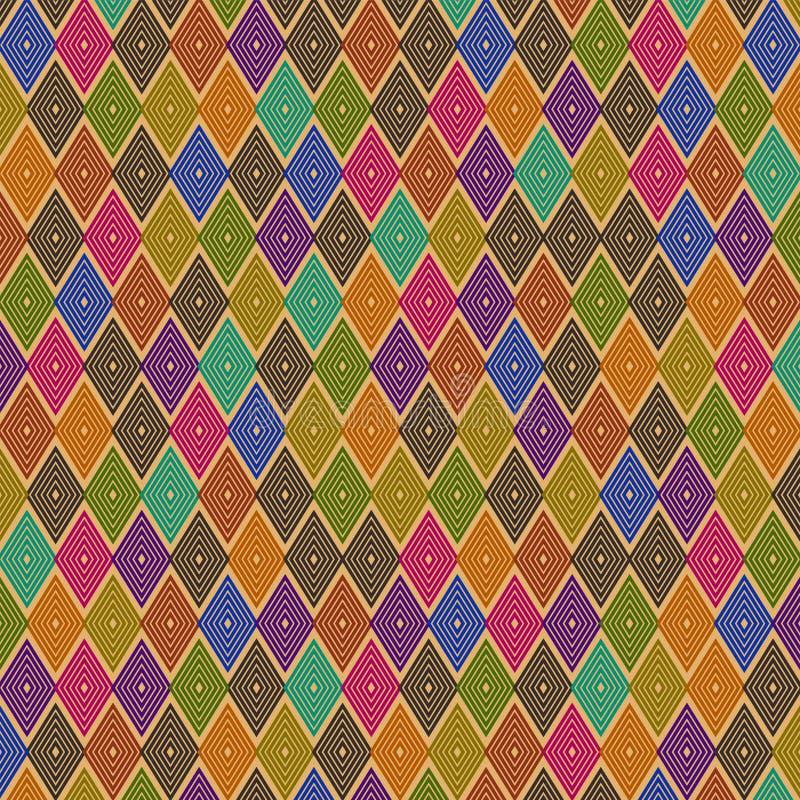 五颜六色的平行四边形样式设计桔子  皇族释放例证