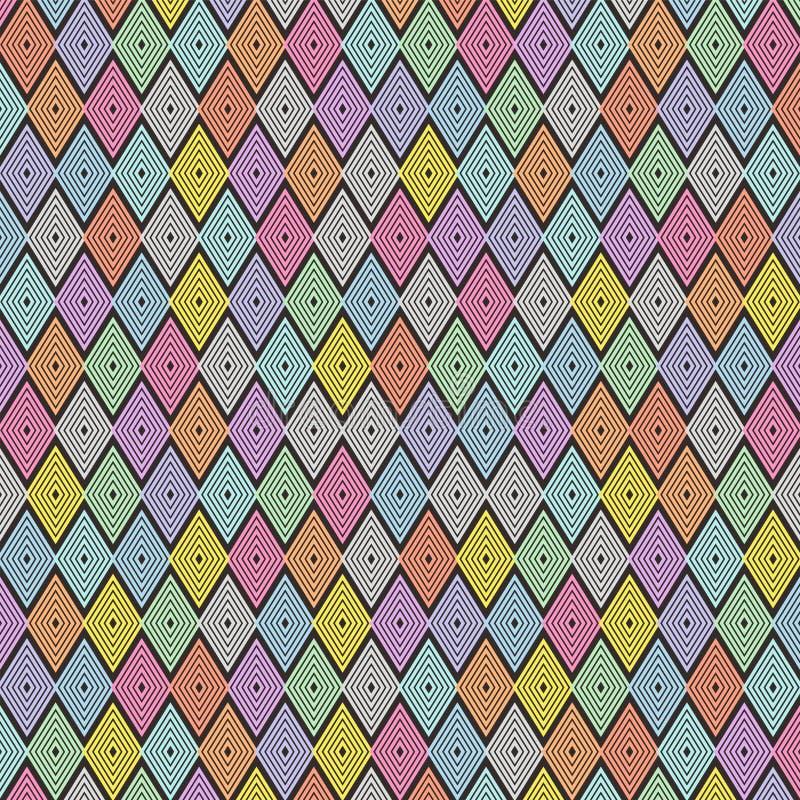 五颜六色的平行四边形样式设计黑暗  皇族释放例证