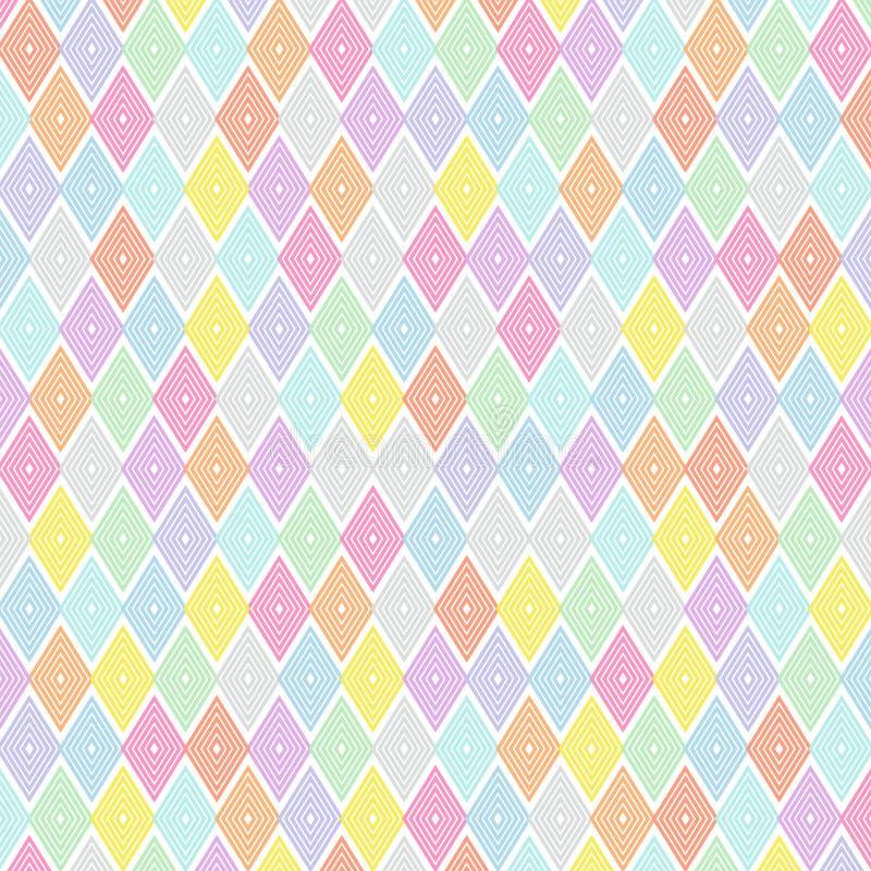 五颜六色的平行四边形样式设计 库存例证