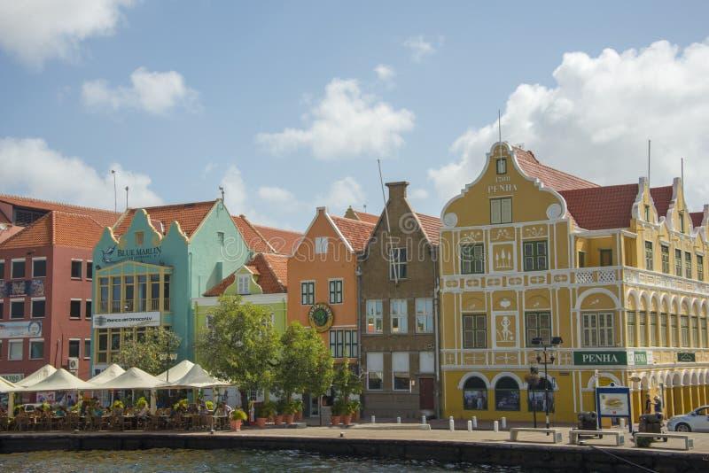 五颜六色的库拉索岛 免版税库存图片