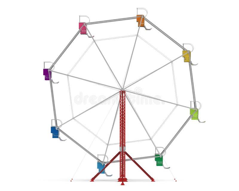 五颜六色的弗累斯大转轮 库存例证