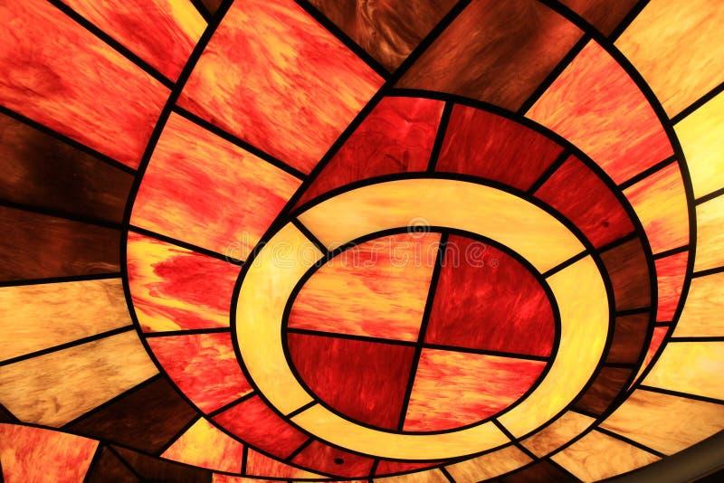 五颜六色的彩色玻璃屋顶 免版税库存照片