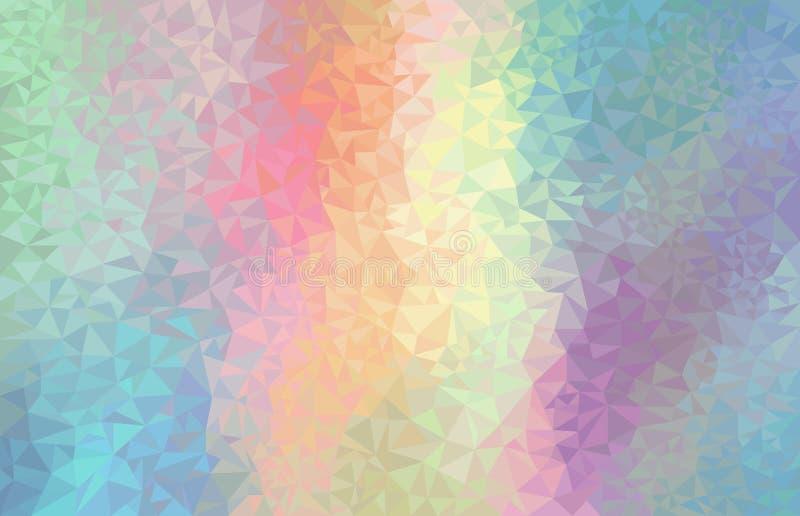 五颜六色的彩虹多角形背景 传染媒介几何未来派装饰 皇族释放例证