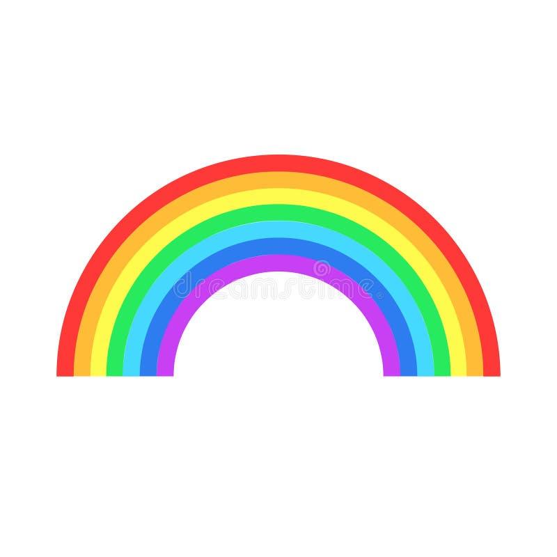 五颜六色的彩虹或色谱平的象apps和websit的 向量例证