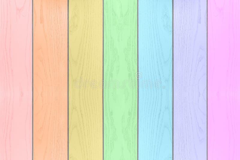 五颜六色的彩虹木织地不很细水平的背景 库存图片