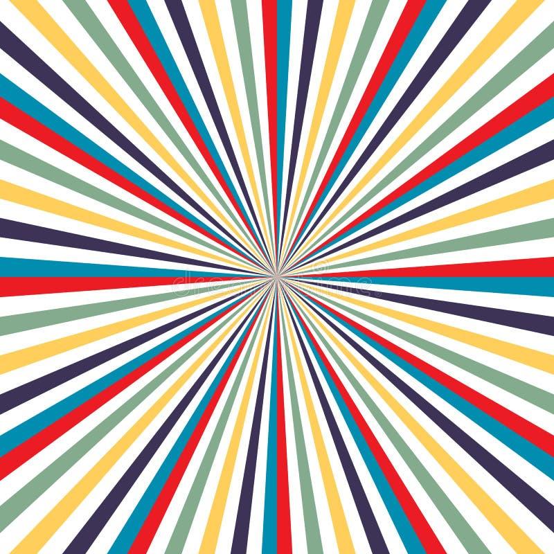 五颜六色的彩虹背景电视葡萄酒传染媒介 电视发出光线背景传染媒介eps10 向量例证
