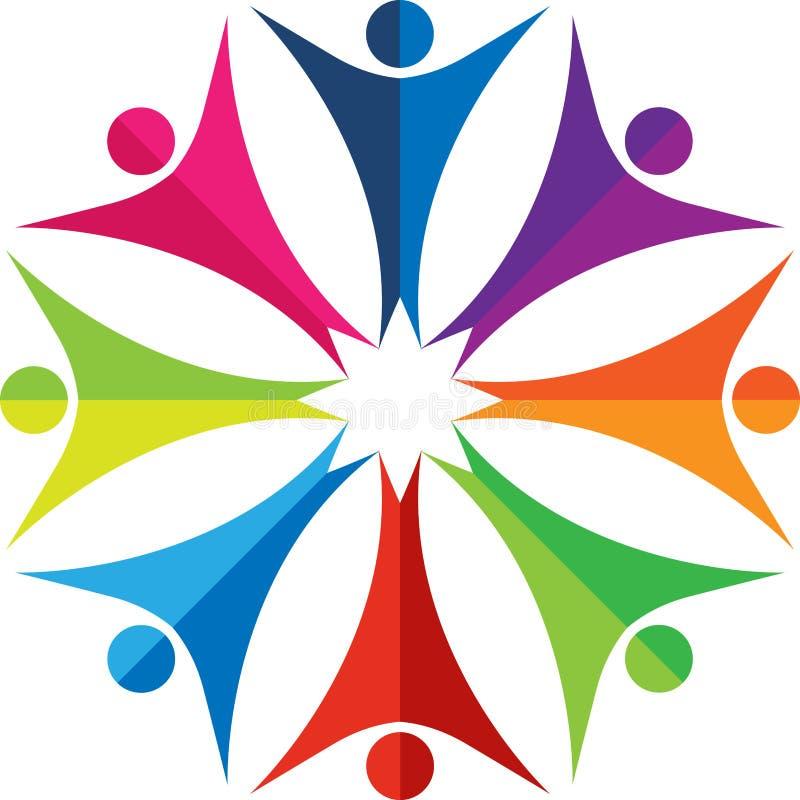 五颜六色的徽标人员 向量例证