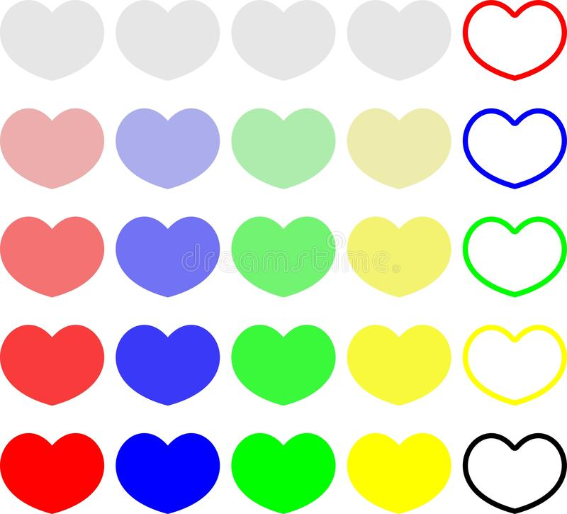 五颜六色的心脏糖果无缝的样式背景 设置交谈甜点为情人节 皇族释放例证