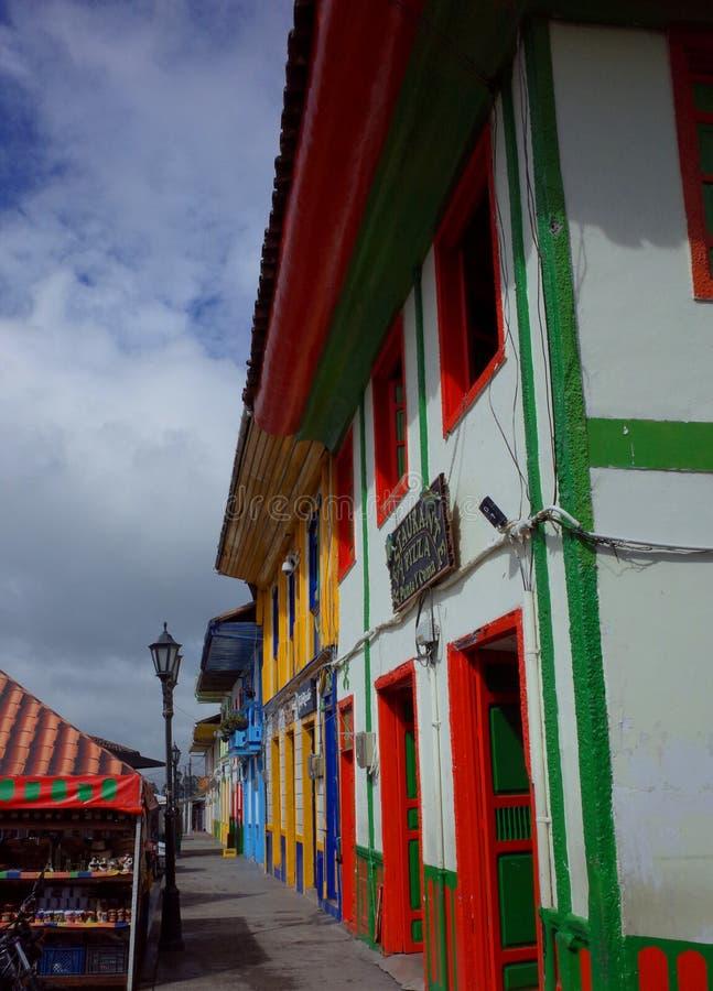 五颜六色的房子在Salento 免版税库存图片