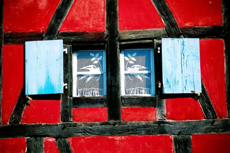 五颜六色的房子视窗 库存图片