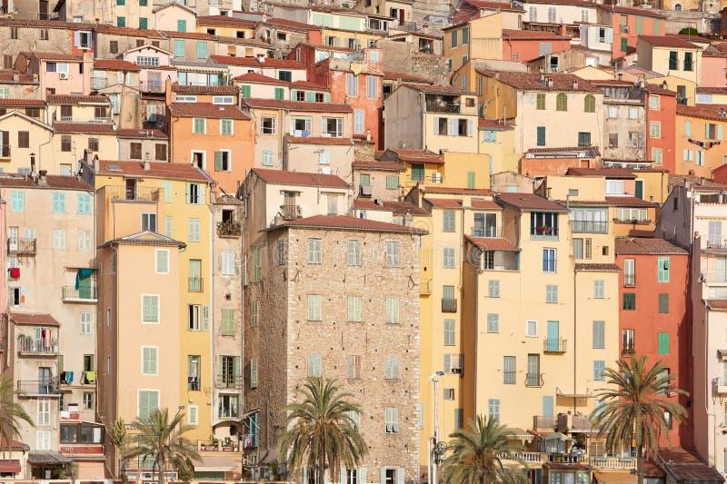 Download 五颜六色的房子门面在芒通镇,法国 库存图片. 图片 包括有 都市, 镇痛药, 粉红色, 法国, 门面, 房子 - 62531853