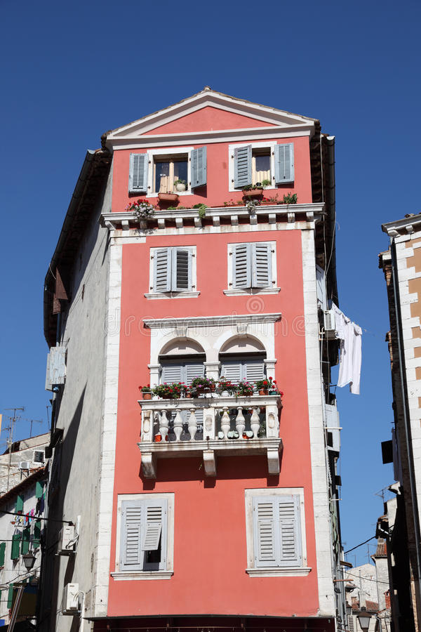 五颜六色的房子rovinj 图库摄影