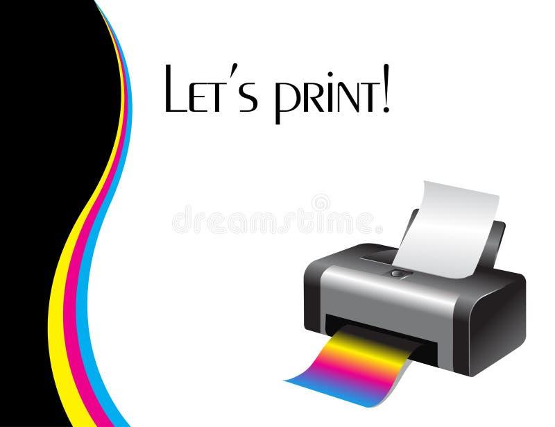 五颜六色的打印机 向量例证