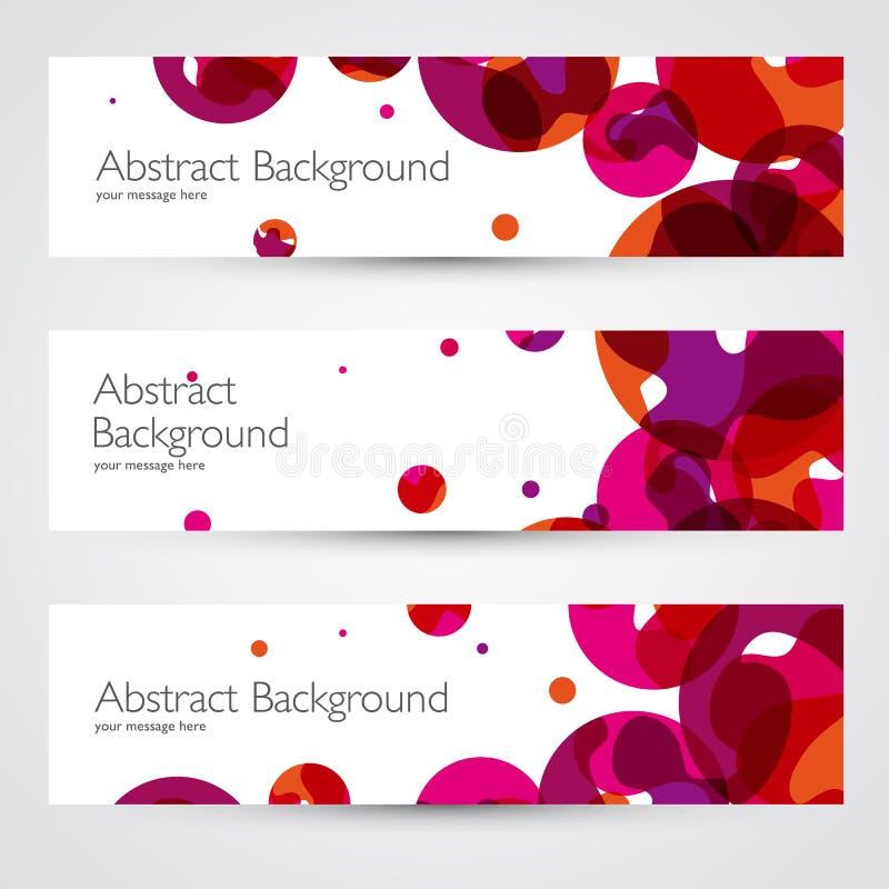 五颜六色的抽象传染媒介横幅 皇族释放例证