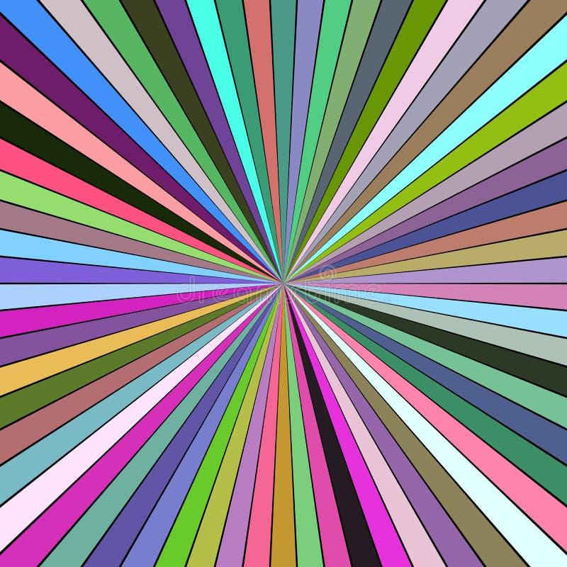 五颜六色的抽象催眠疾风概念背景-传染媒介例证 库存例证