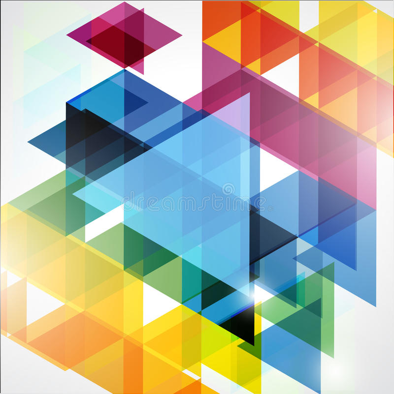 五颜六色的抽象几何背景 库存图片