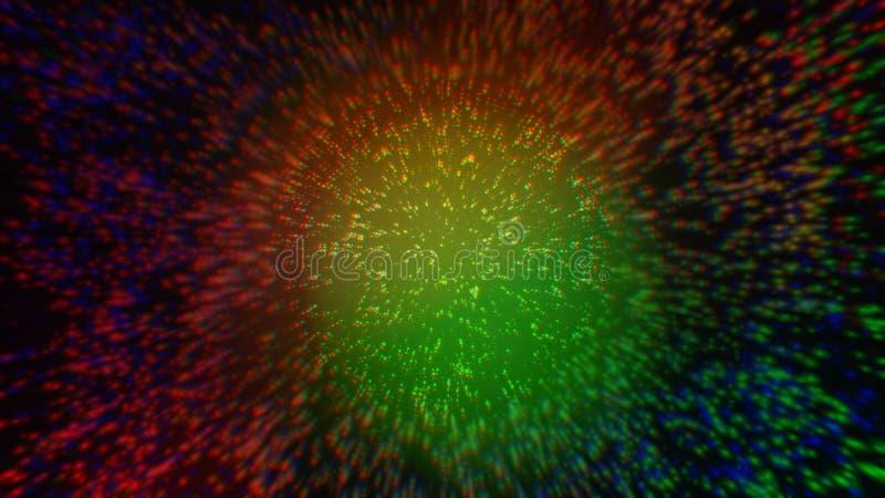 五颜六色的抽象可变的波动数字设计 库存例证