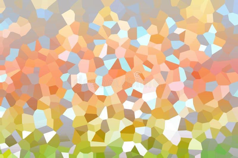 五颜六色的抽象多角形明确艺术一条三角彩虹 皇族释放例证