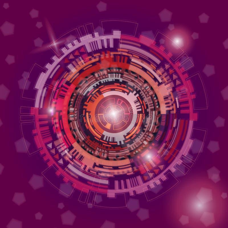 五颜六色的抽象数字技术背景 库存例证