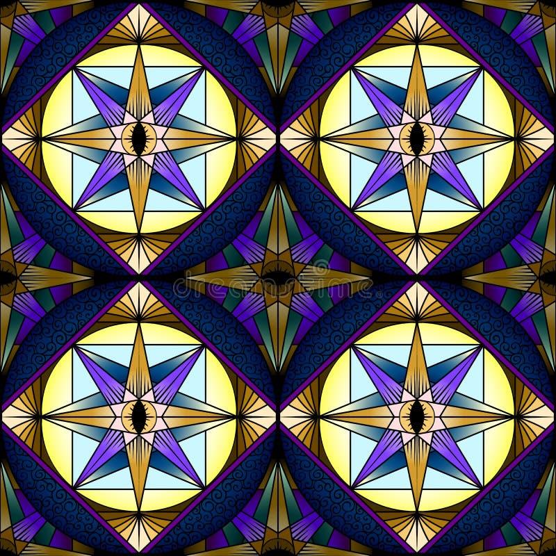 五颜六色的抽象无缝的样式,装饰万花筒stai 皇族释放例证