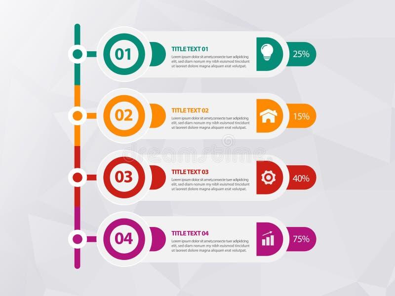 五颜六色的抽象时间安排infographics r 皇族释放例证