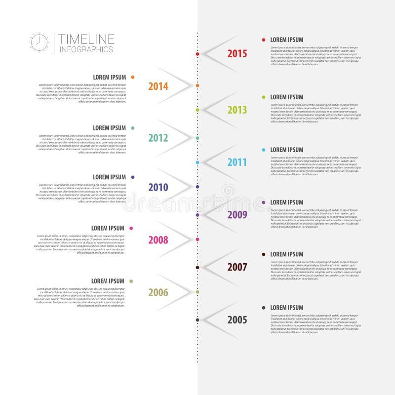 五颜六色的抽象时间安排infographics 也corel凹道例证向量 皇族释放例证