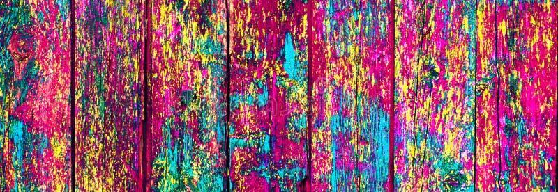 五颜六色的抽象木油漆墙壁背景,纹理 图库摄影