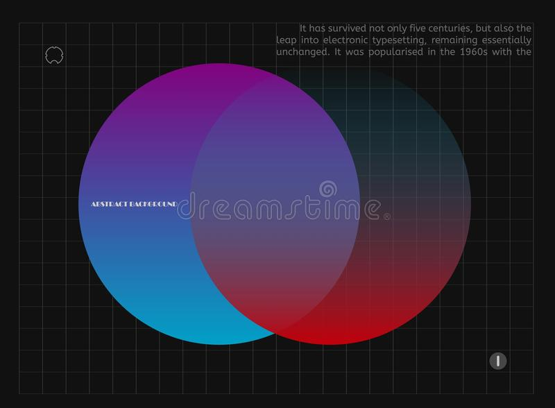 五颜六色的抽象梯度迷离 在黑色的未来派形状音乐海报的,盖子,横幅,招贴,飞行物 皇族释放例证