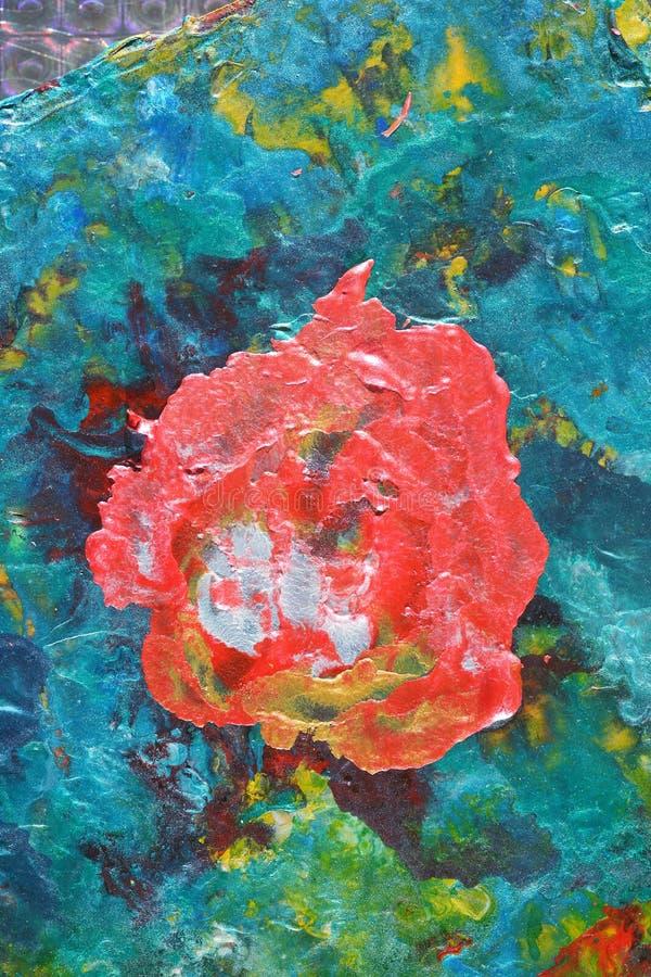 五颜六色的抽象油画 库存图片