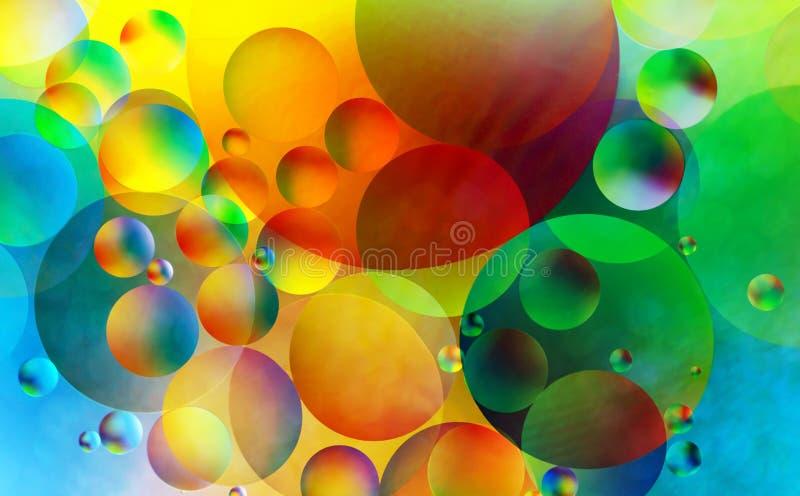 五颜六色的抽象泡影 库存照片