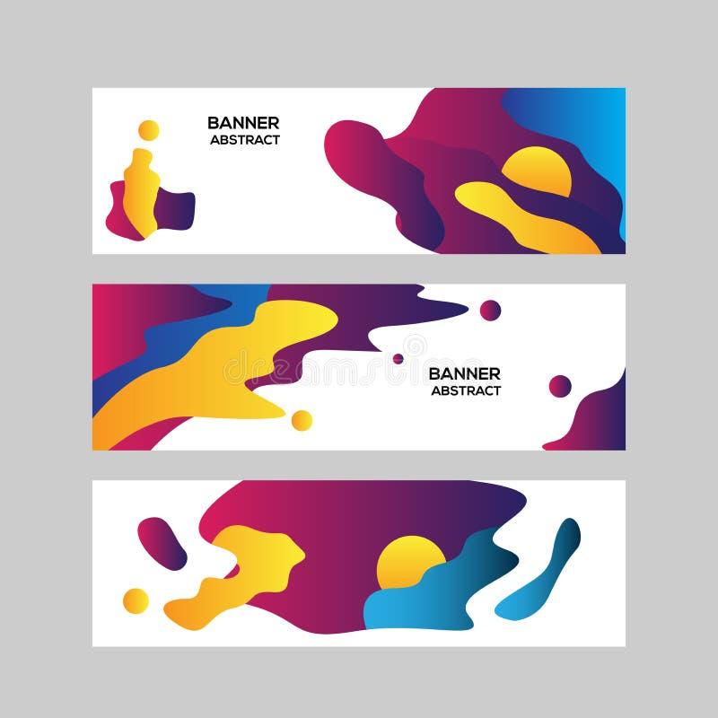 五颜六色的抽象现代benner背景