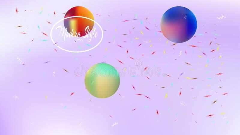 五颜六色的抽象空间背景画面滤网 向量例证