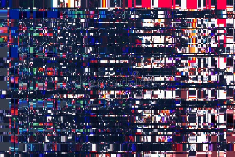 五颜六色的抽象背景纹理 小故障,数字式噪声 库存例证
