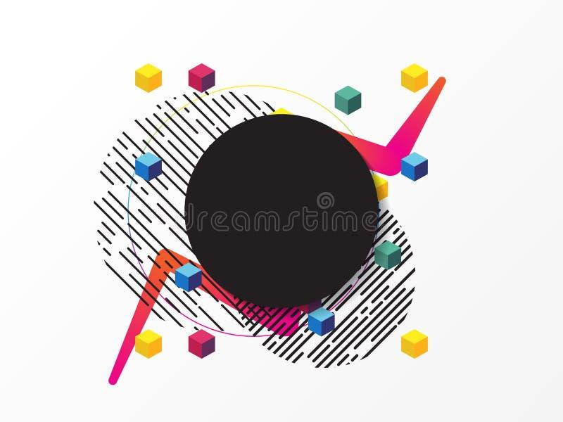 五颜六色的抽象背景,几何元素 皇族释放例证