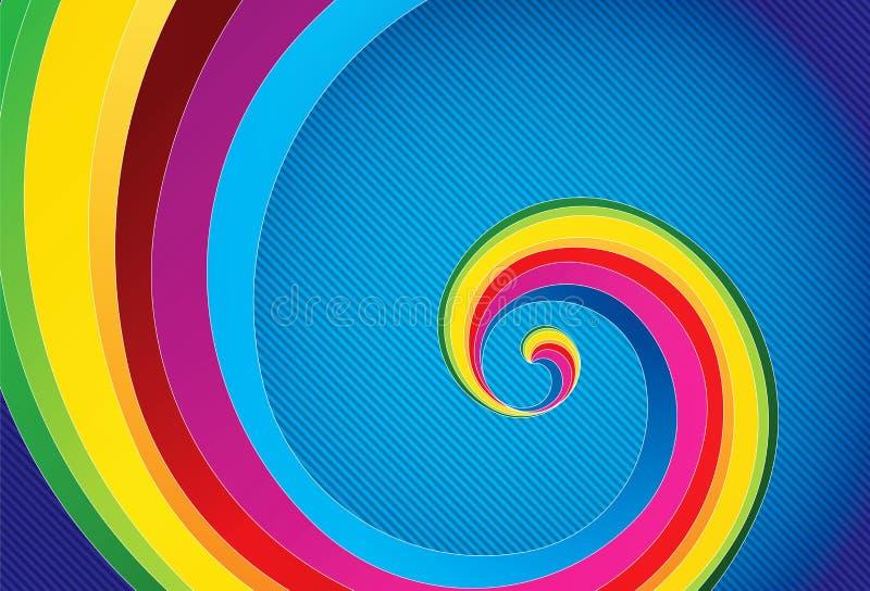 五颜六色的抽象背景 库存例证