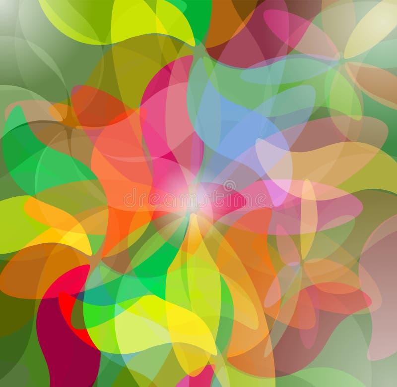 五颜六色的抽象荧光的艺术背景 库存例证