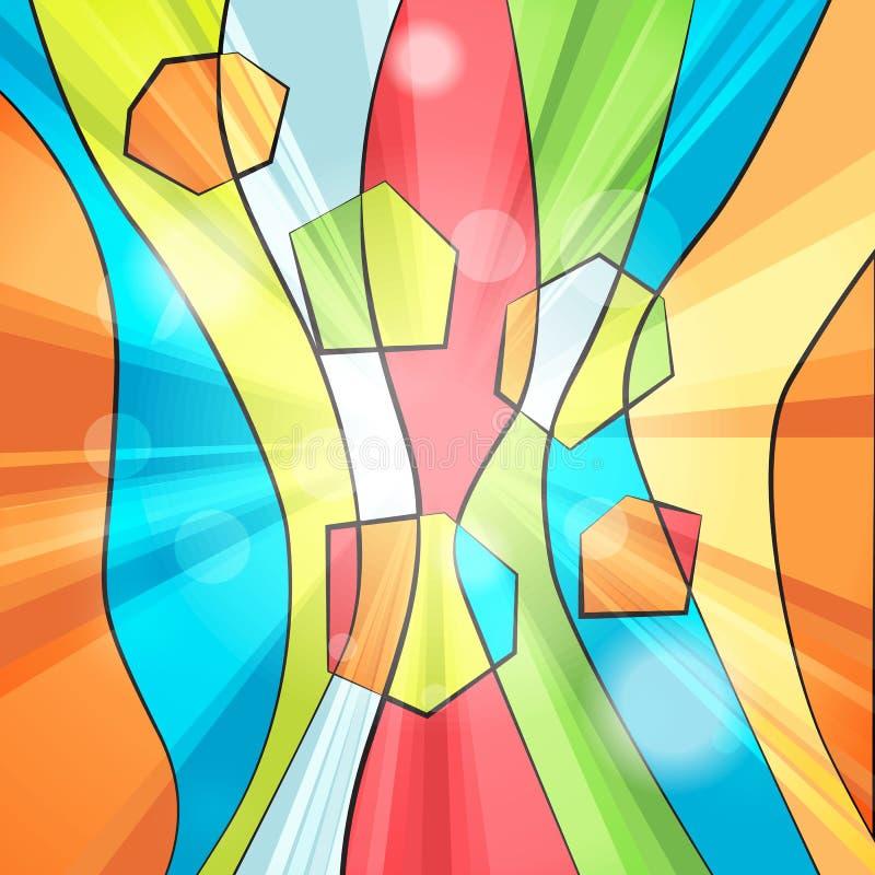 五颜六色的抽象镶边背景 皇族释放例证