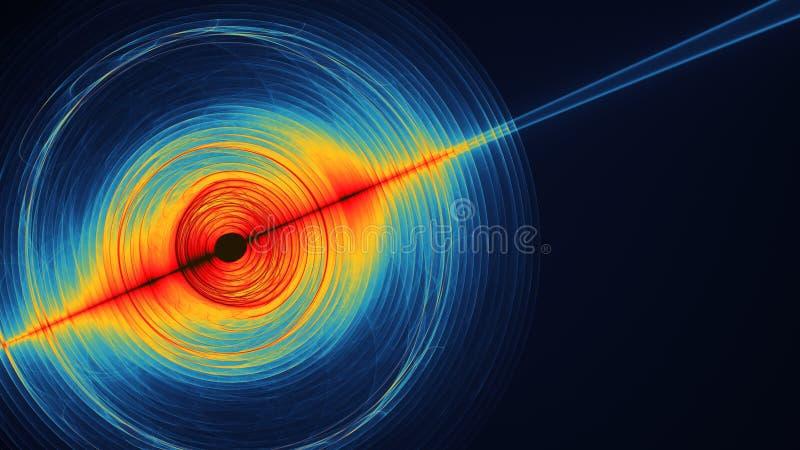五颜六色的抽象illustartion看起来象空间行星行动 皇族释放例证