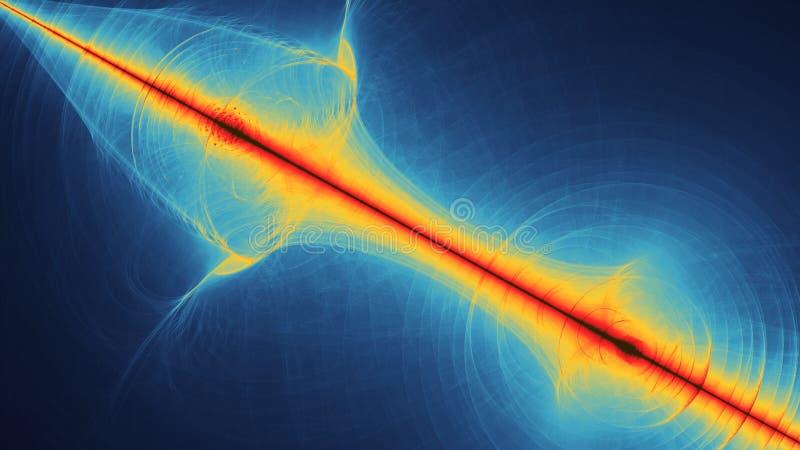 五颜六色的抽象illustartion看起来象空间行星行动 库存例证