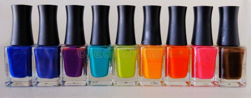 五颜六色的指甲油 免版税图库摄影