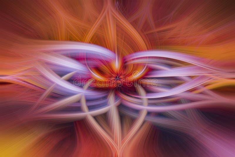 五颜六色的摘要扭转的轻的纤维作用背景 库存照片