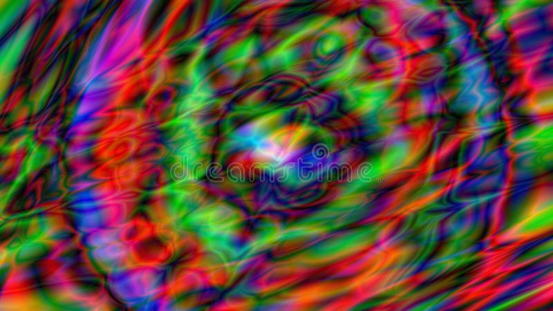 五颜六色的摘要被绘的背景 荧光的艺术 库存例证