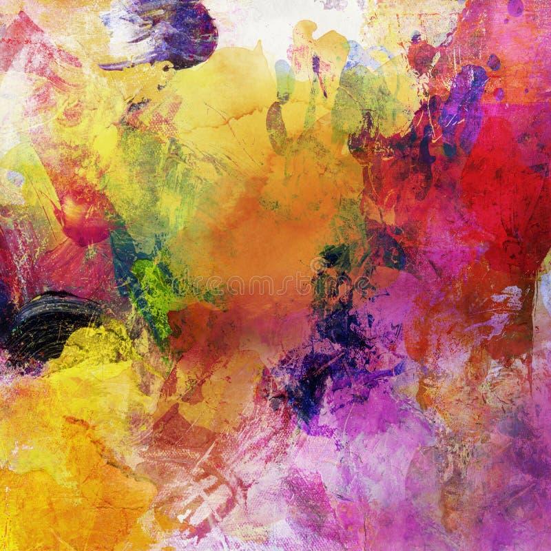 五颜六色的摘要被绘的背景 免版税图库摄影