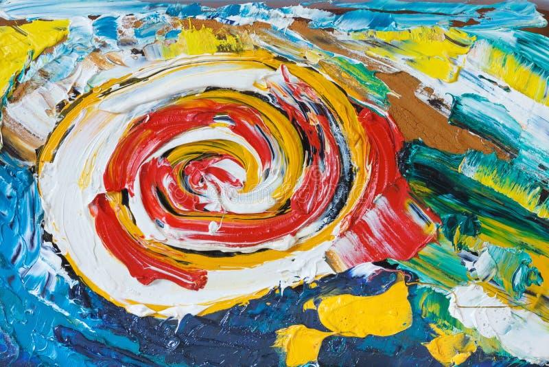 五颜六色的摘要被绘的背景 图库摄影